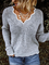 Plus Size Solid Loose Fit Women Pullover Sweaters